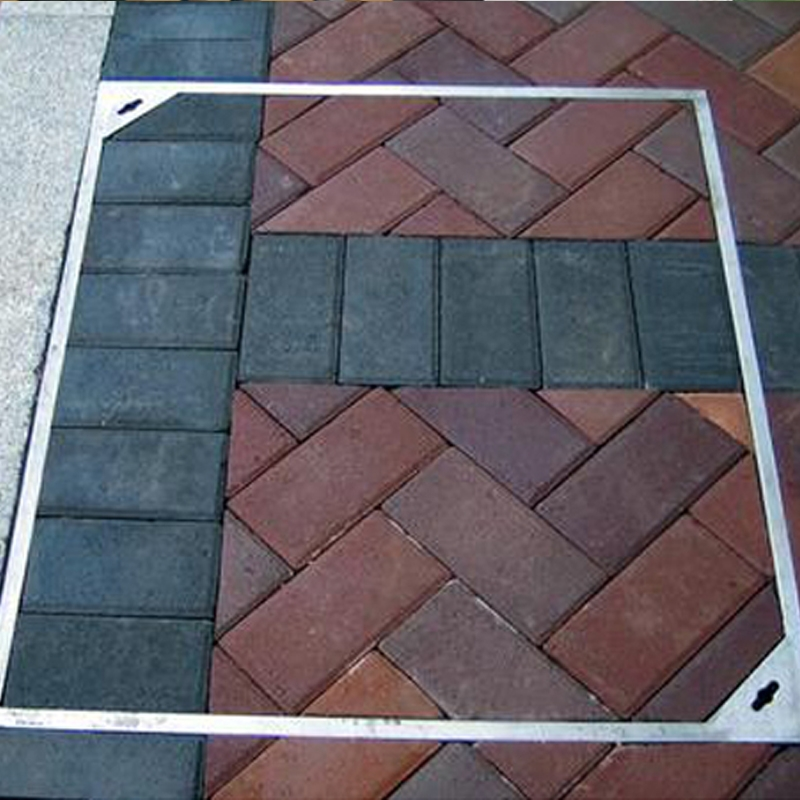 Invisible stainless steel manhole cover project case