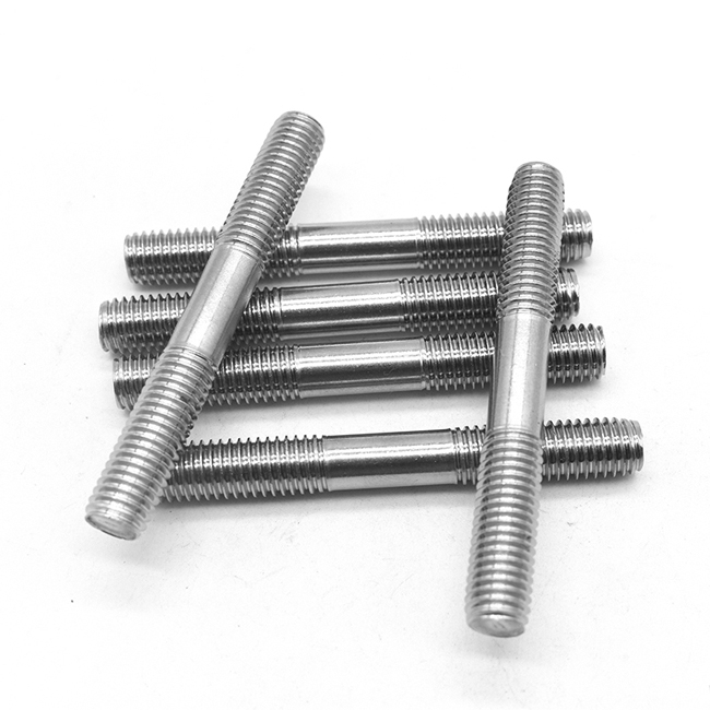 Stainless steel double-end thread